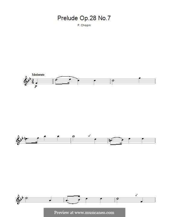 No.7 ля мажор: Для флейты by Фредерик Шопен