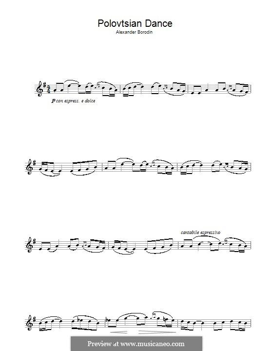 Половецкие пляски: Для альтового саксофона by Александр Бородин