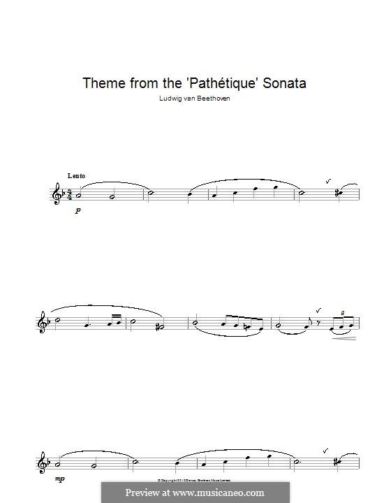Часть II: Тема. Версия для саксофона альта by Людвиг ван Бетховен