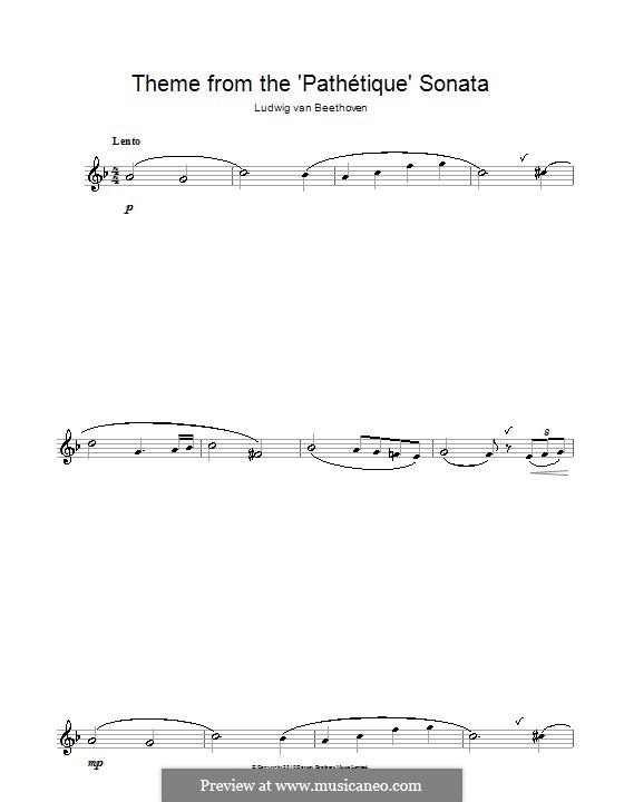 Часть II: Тема. Версия для флейты by Людвиг ван Бетховен