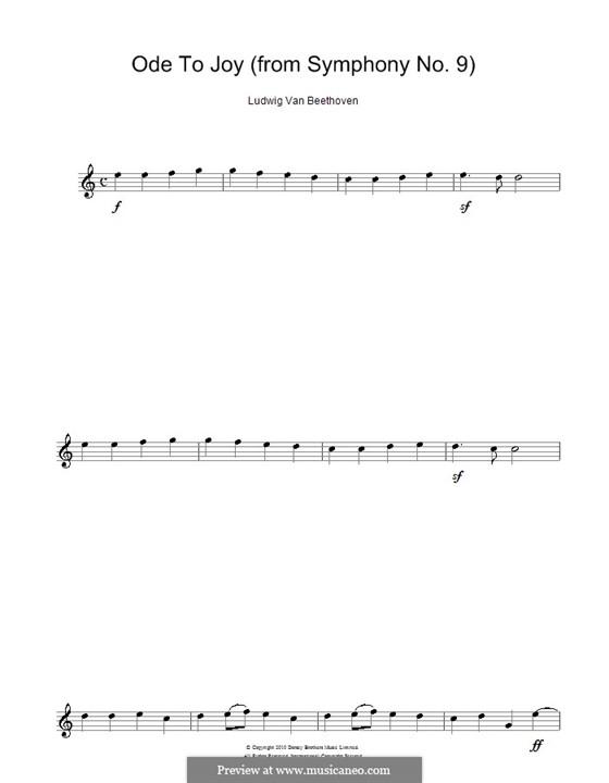 Ода к радости: Version for alto saxophone by Людвиг ван Бетховен