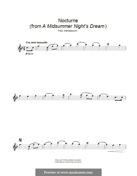 Ноктюрн: Для флейты by Феликс Мендельсон-Бартольди