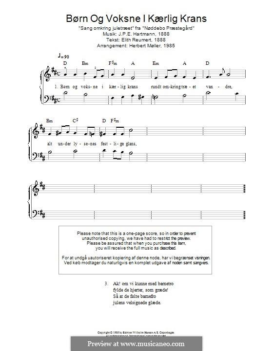 Børn Og Voksne I Kærlig Krans: Для фортепиано by Иоганн Петер Эмилиус Хартман
