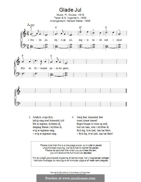 Glade Jul: Фортепиано (Franz Gruber) by Франц Ксавьер Грубер