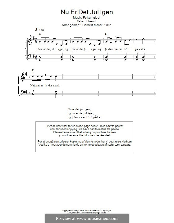 Nu ar det Jul igen: Для фортепиано by folklore