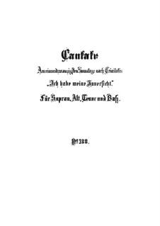 Ich habe meine Zuversicht, BWV 188: Партитура by Иоганн Себастьян Бах
