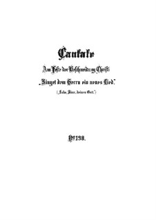 Singet dem Herrn ein neues Lied, BWV 190: Партитура by Иоганн Себастьян Бах