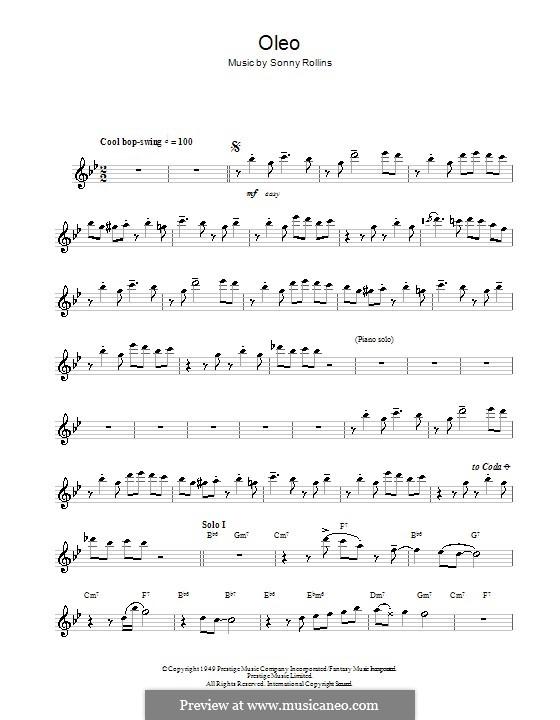 Oleo: Для флейты by Sonny Rollins