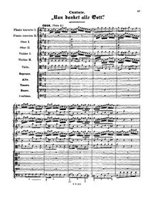 Nun danket alle Gott, BWV 192: Партитура by Иоганн Себастьян Бах