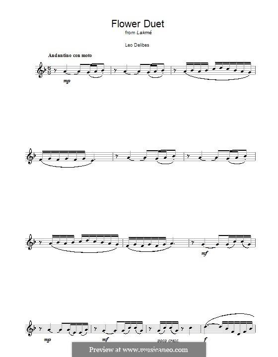 The Flower Duet: Для кларнета by Лео Делиб
