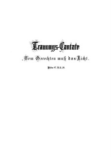 Dem Gerechten muss das Licht, BWV 195: Партитура by Иоганн Себастьян Бах