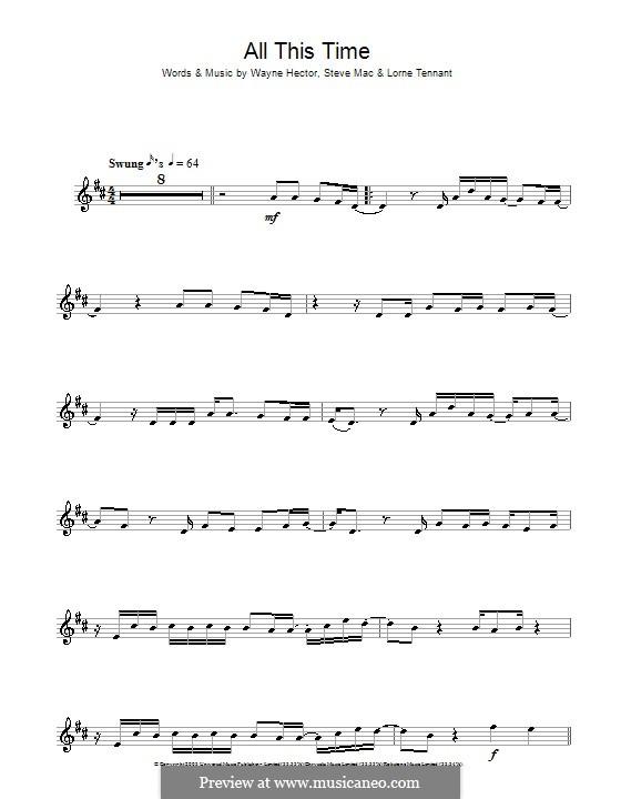 All This Time (Michelle McManus): Для альтового саксофона by Lorne Tennant, Steve Mac, Wayne Anthony Hector