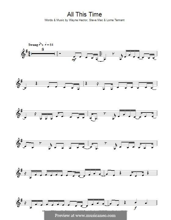 All This Time (Michelle McManus): Для кларнета by Lorne Tennant, Steve Mac, Wayne Anthony Hector