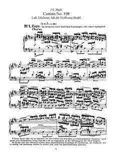 Lass, Fürstin, lass noch einen Strahl, BWV 198: Клавир с вокальной партией by Иоганн Себастьян Бах