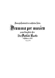 Vereinigte Zwietracht der wechselnden Saiten, BWV 207: Партитура by Иоганн Себастьян Бах
