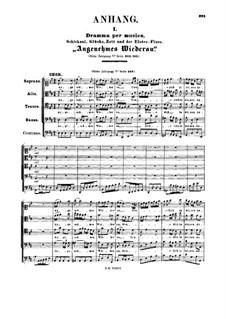 Angenehmes Wiederau, freue dich in deinen Auen!, BWV 30a: Партитура by Иоганн Себастьян Бах