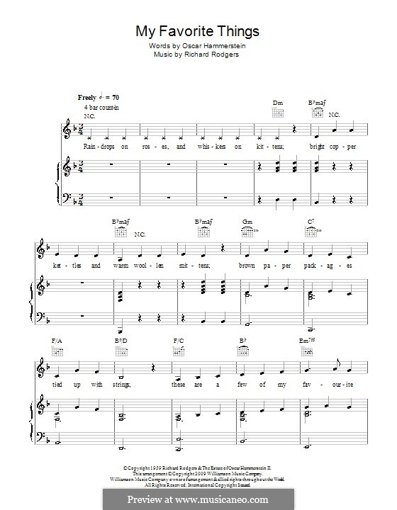 Piano-vocal version: Для голоса и фортепиано или гитары (D Minor) by Richard Rodgers