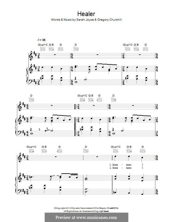 Healer (Rumer): Для голоса и фортепиано (или гитары) by Gregory Churchill, Sarah Joyce