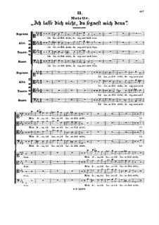 Ich lasse dich nicht, du segnest mich denn, BWV Anh.159: Ich lasse dich nicht, du segnest mich denn by Иоганн Себастьян Бах