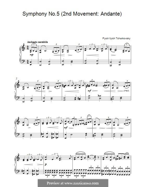 Часть II: Переложение для фортепиано (Фрагмент) by Петр Чайковский