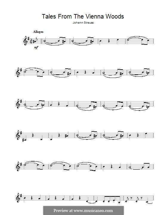 Сказки Венского леса, Op.325: Для кларнета by Иоганн Штраус (младший)