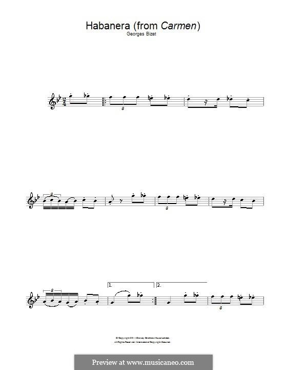 Хабанера: Для альтового саксофона by Жорж Бизе