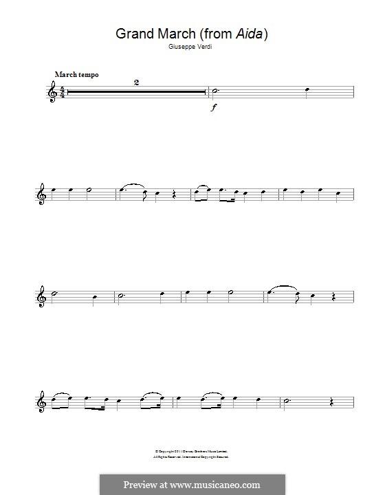 Марш: Для флейты by Джузеппе Верди