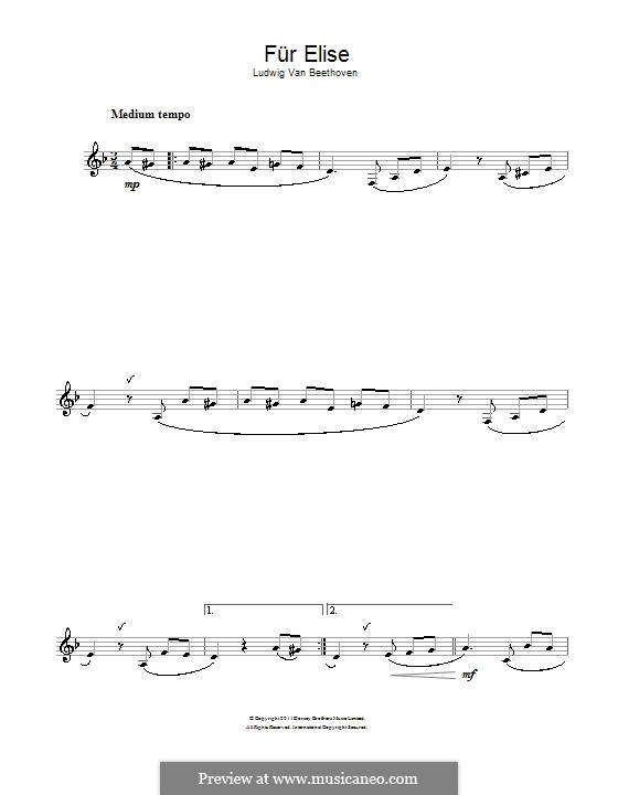 К Элизе, WoO 59: Для кларнета by Людвиг ван Бетховен
