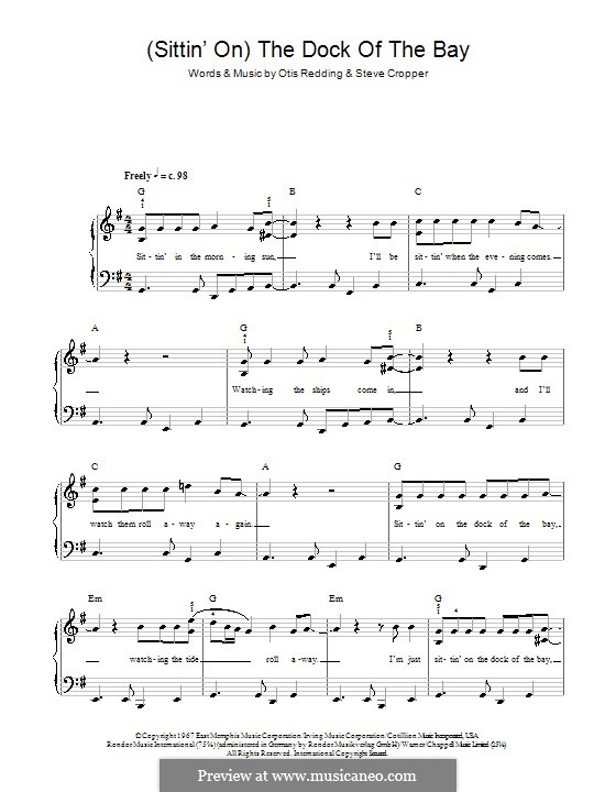 (Sittin' On) The Dock of the Bay: Для начинающего пианиста by Otis Redding, Steve Cropper