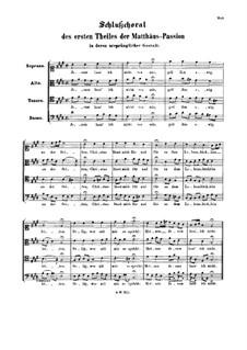 Часть I: Заключительный хорал 'Jesum lass Ich nicht von mir' by Иоганн Себастьян Бах