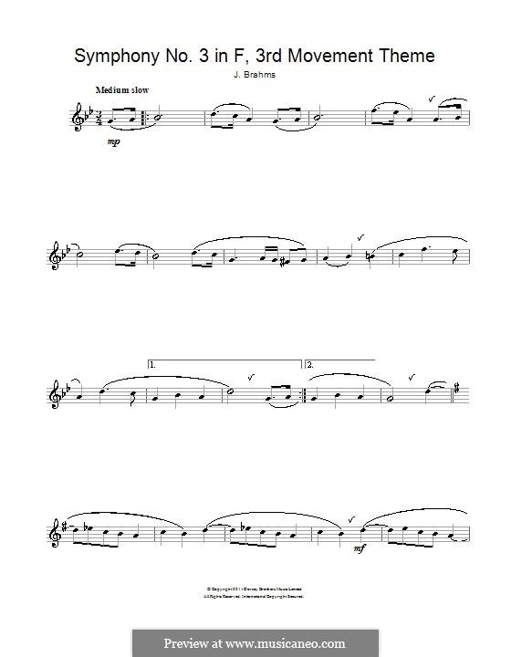 Часть III: Тема. Версия для флейты by Иоганнес Брамс