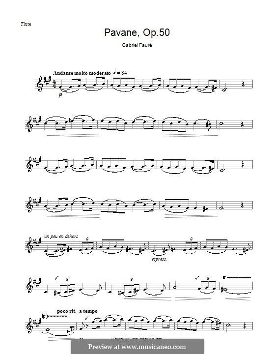 Павана, Op.50: Для флейты by Габриэль Форе