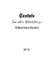 Der Himmel lacht! Die Erde jubilieret, BWV 31: Партитура by Иоганн Себастьян Бах