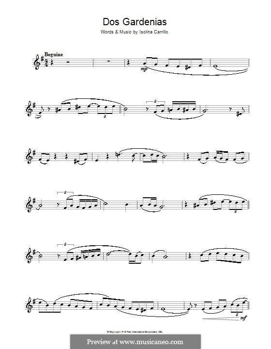 Dos Gardenias (The Buena Vista Social Club): Для кларнета by Isolina Carrillo