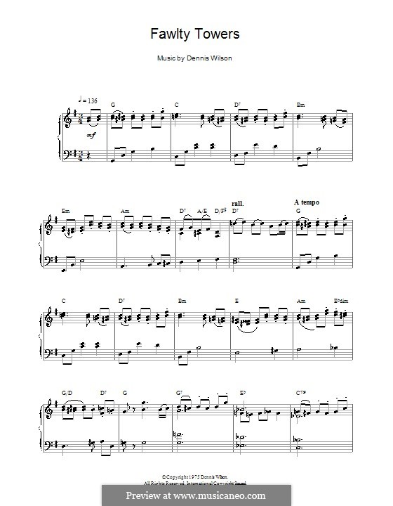 Fawlty Towers: Для фортепиано by Dennis Wilson