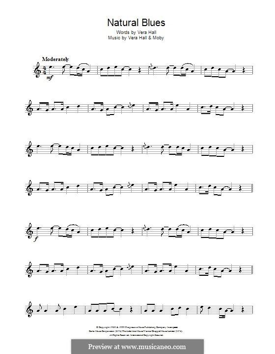 Natural Blues: Для альтового саксофона by Moby, Vera Hall
