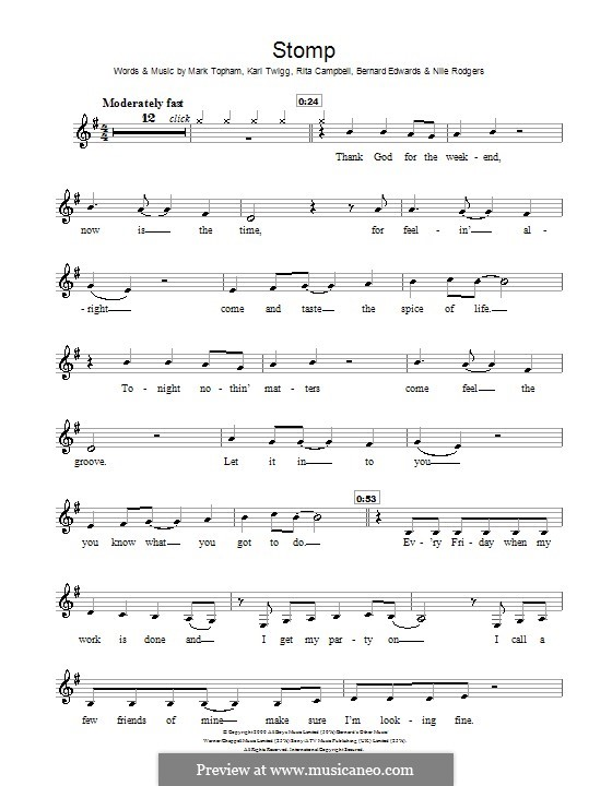 Stomp (Steps): Для кларнета by Bernard Edwards, Karl Twigg, Mark Topham, Nile Rodgers, Rita Campbell
