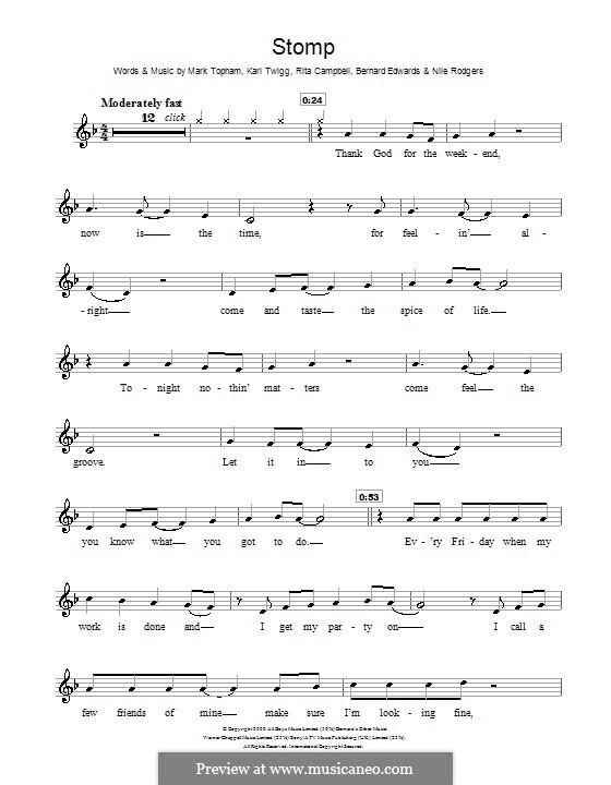 Stomp (Steps): Для блокфлейты by Bernard Edwards, Karl Twigg, Mark Topham, Nile Rodgers, Rita Campbell