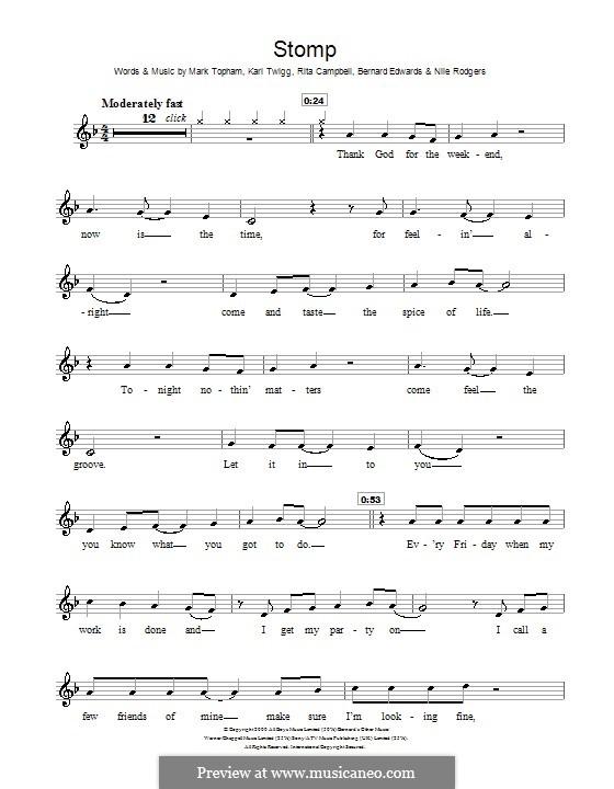 Stomp (Steps): Для скрипки by Bernard Edwards, Karl Twigg, Mark Topham, Nile Rodgers, Rita Campbell
