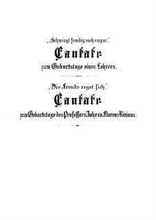 Вознесите с весельем к высоким звездам и Die Freude reget sich, BWV 36b, 36c: Вознесите с весельем к высоким звездам и Die Freude reget sich by Иоганн Себастьян Бах