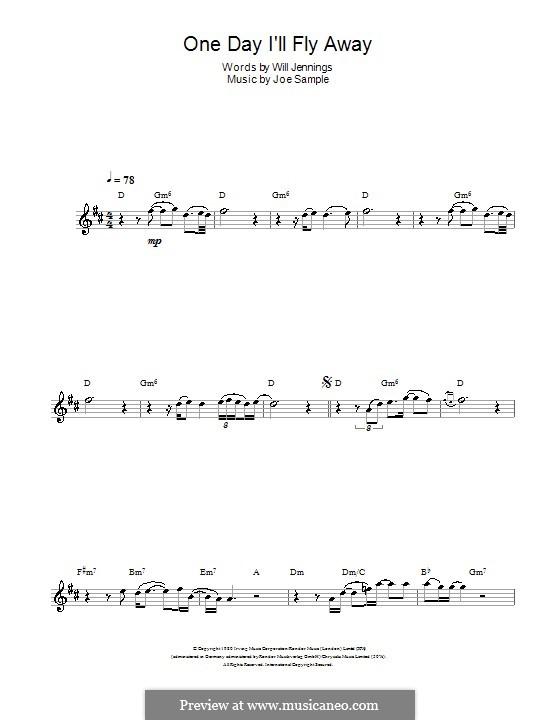 One Day I'll Fly Away (Randy Crawford): Для флейты by Joe Sample