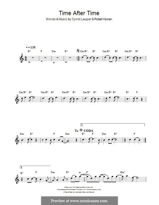 Time after Time: Для кларнета by Cyndi Lauper, Robert Hyman