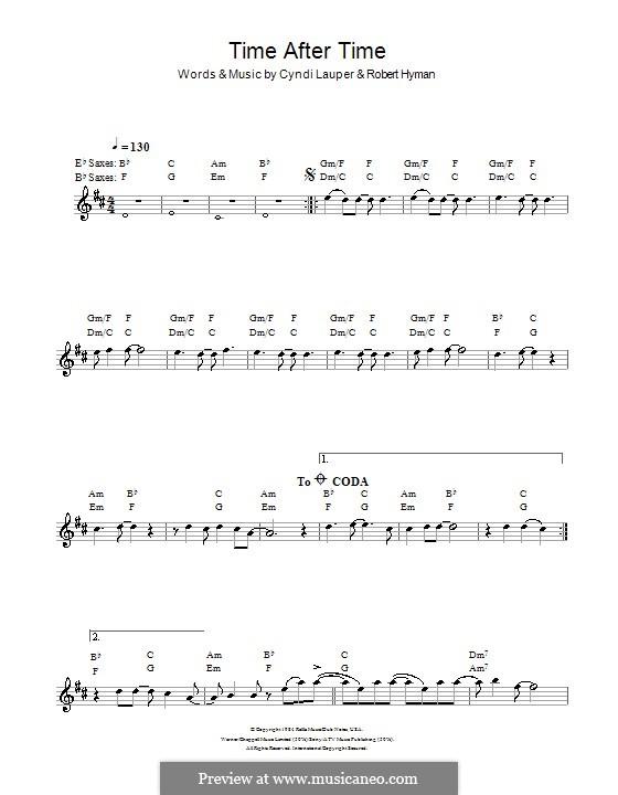 Time after Time: Для саксофона by Cyndi Lauper, Robert Hyman