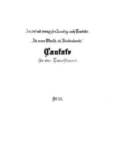Ich armer Mensch, ich Sündenknecht, BWV 55: Партитура by Иоганн Себастьян Бах