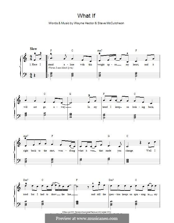 What If (Kate Winslet): Для фортепиано (легкий уровень) by Steve Mac, Wayne Anthony Hector