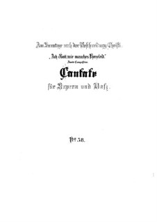 О Боже, какие сердечные страдания, BWV 58: Партитура by Иоганн Себастьян Бах