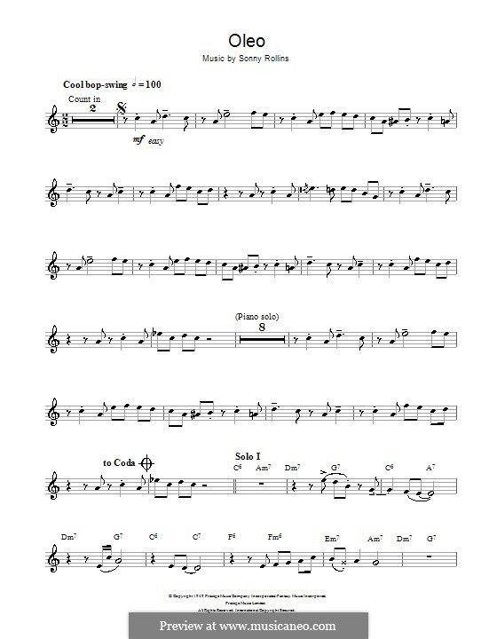 Oleo: Для кларнета by Sonny Rollins