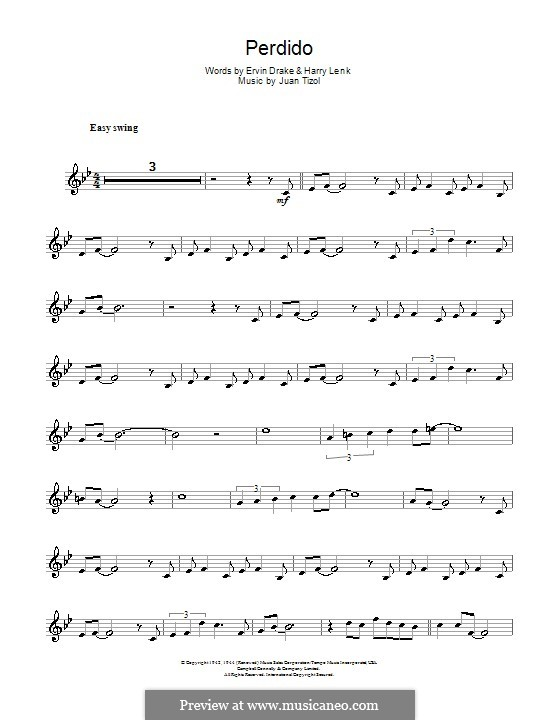 Perdido (Duke Ellington): Для кларнета by Juan Tizol