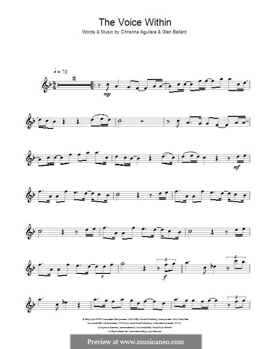 The Voice Within: Для флейты by Christina Aguilera, Glen Ballard