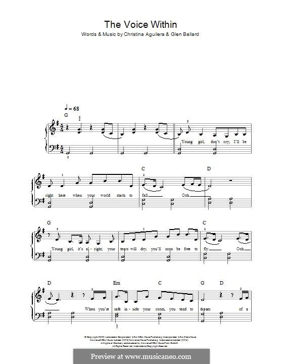 The Voice Within: Для начинающего пианиста by Christina Aguilera, Glen Ballard